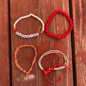 4 Rainbow bracelet set